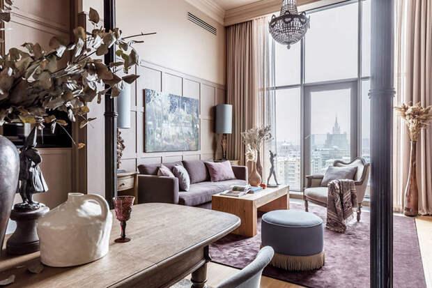 Прекрасная квартира с высокими потолками в районе Триумфальной площади в Москве (80 кв. м)