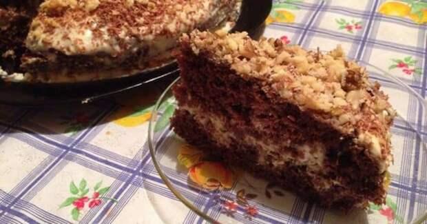Шоколадный торт на кефире Ням-Ням. Быстрое пятиминутное лакомство для сладкоежек 4