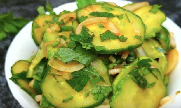 Закуска из огурцов: вкуснее чем просто салат