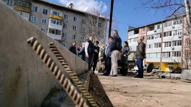 Дворы начали ремонтировать в Биробиджане