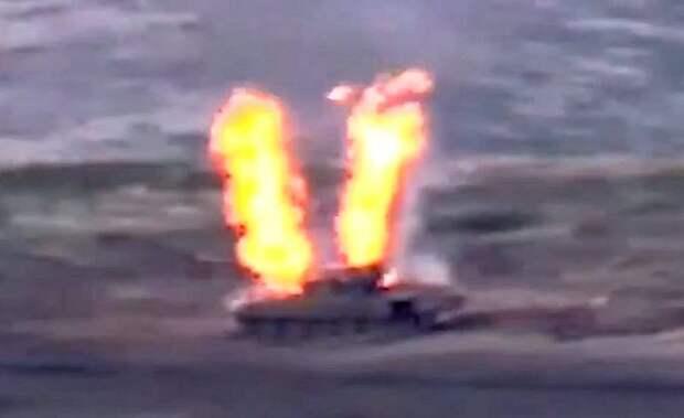 Ереван опубликовал кадры уничтожения азербайджанских Т-72