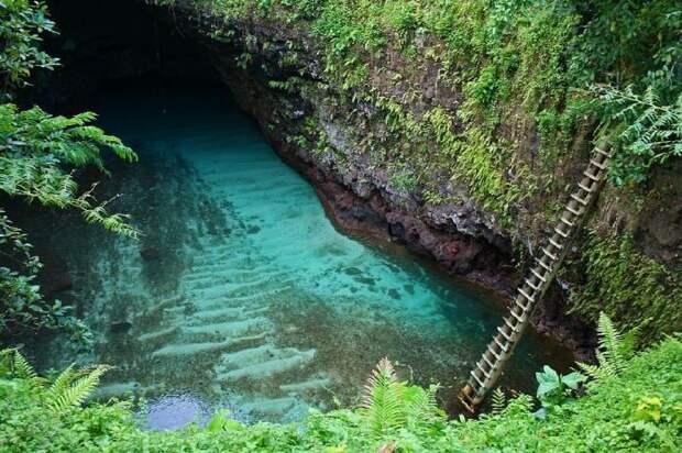 Великолепное озеро To Sua Ocean Trench (10 фото)