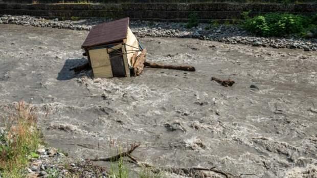Мощный сель затопил десятки домов на юге Кыргызстана
