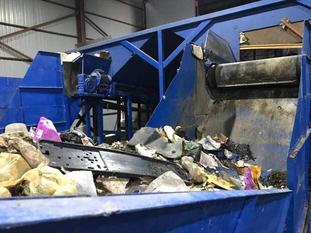 В Симферополе запустили мусоросортировочный завод. Фото
