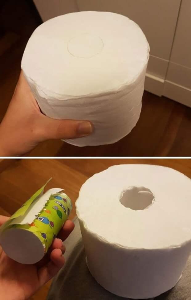 """Туалетная бумага с дополнительным внутренним рулончиком """"в дорогу"""" идеи, необычно, нестандартно, нестандартные идеи, оригинально, оригинальные решения, проблемы, решения"""