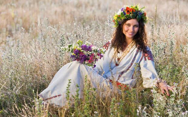 Девушка в поле цветов » Девушки » OldtimeWallpapers.com - Под ...