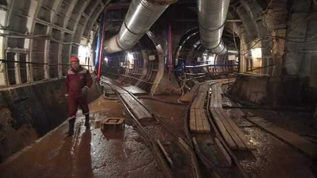 В Москве начали строить пересадку со станции БКЛ «Марьина Роща» на салатовую ветку