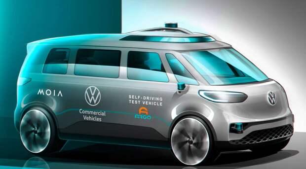 Volkswagen готовит к выпуску беспилотный фургон в стиле хиппи
