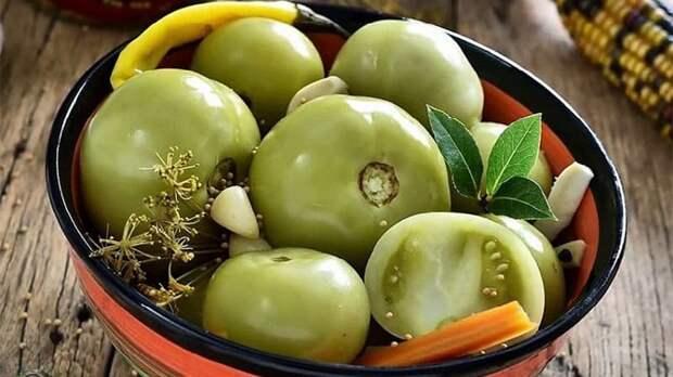 Маринованные зелёные помидоры. Заготовка родом из СССР
