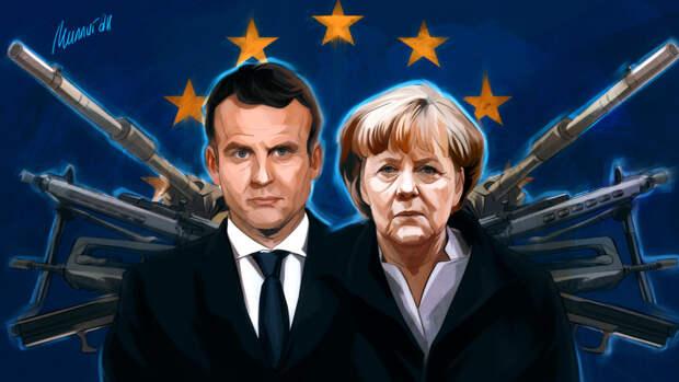 Меркель и Макрон призвали Москву отвести войска РФ от границ с Украиной