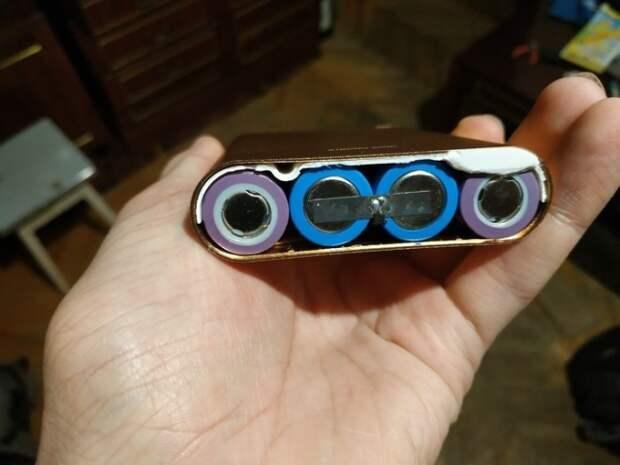 Что можно увидеть внутри поддельного внешнего аккумулятора (6 фото)