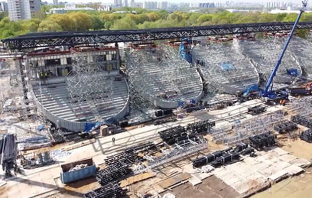 """В Москве продолжается реконструкция стадиона """"Москвич"""""""