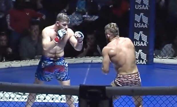 Жесткий морпех дразнил ММА-бойца и поплатился в ринге
