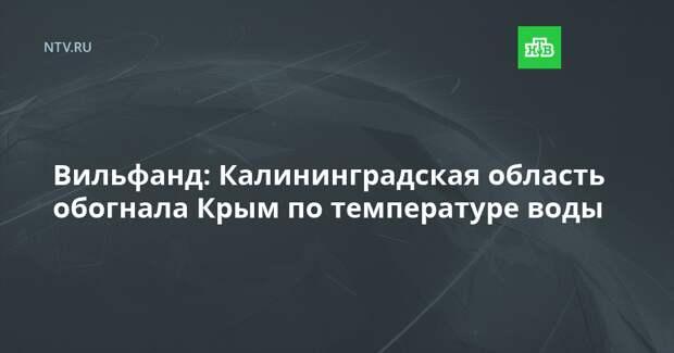 Вильфанд: Калининградская область обогнала Крым по температуре воды