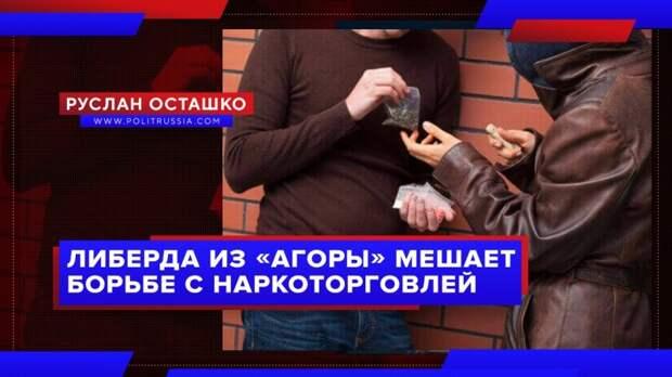 Либерда из «Агоры» пытается парализовать борьбу с наркоторговлей в России