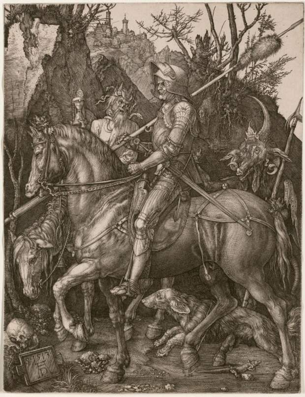 Гравюра «Рыцарь, Смерть и Дьявол»