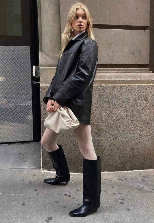 Сапоги-трубы - самая стильная модель обуви 2021: как правильно выбрать и с чем носить