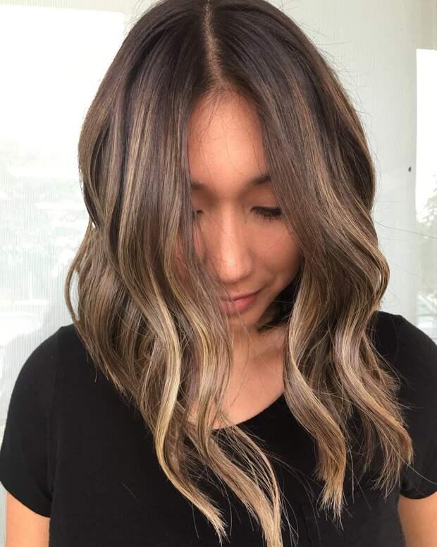 Топ-35 балаяж идей окрашивания волос от коричневого до карамельного тона