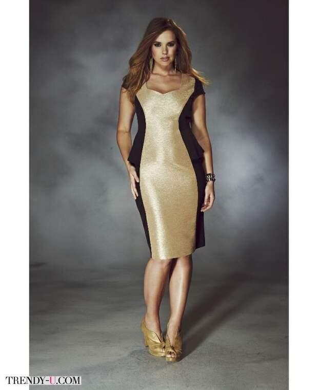Модное нарядное платье с оптической иллюзией