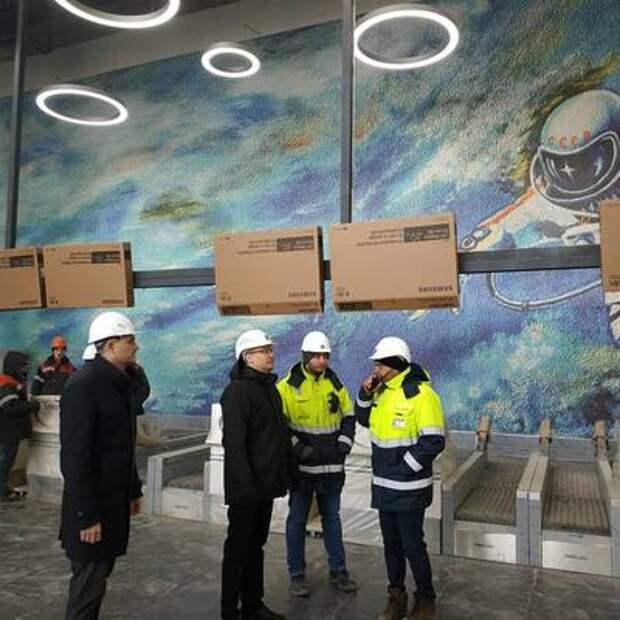 Замгубернатора Кузбасса показал новый терминал кемеровского аэропорта изнутри