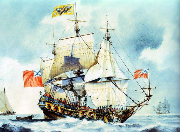 28-и пушечный корабль «Штандарт». <br>