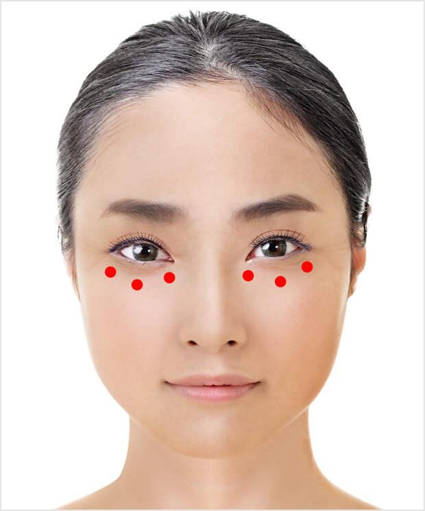 Японская техника для омоложения зоны вокруг глаз