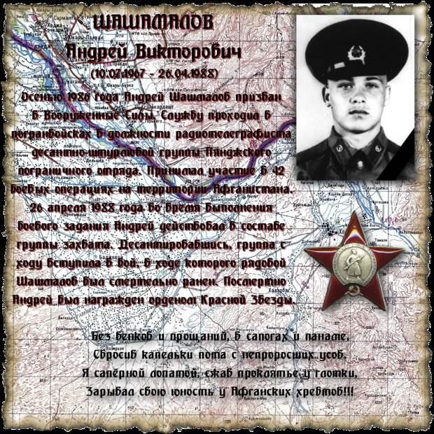 Рядовой ШАШМАЛОВ Андрей Викторович