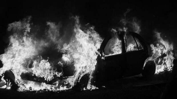 В Севастополе пламя «сожрало» автомобиль (фото)