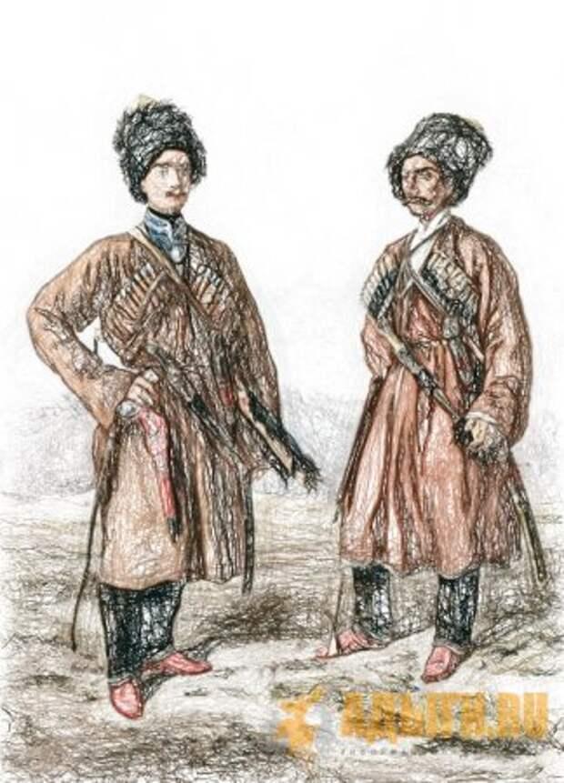 Адыги -  современные кабардинцы и черкесы.