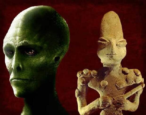 Древние артефакты указывающие на контакты с инопланетянами