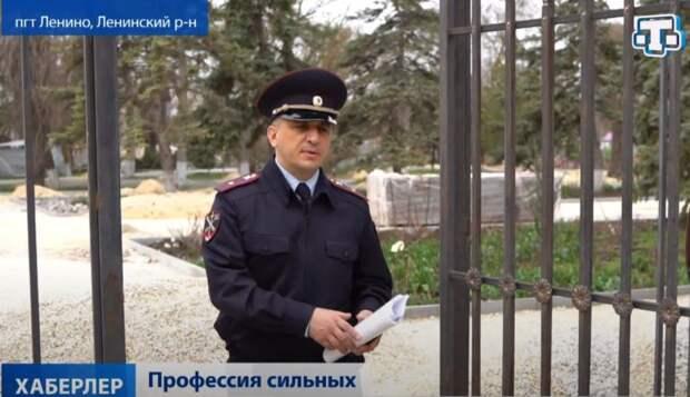 В фокусе телекамеры — майор внутренней службы Нариман Решетов