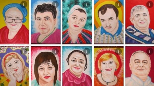 Художница изНовочеркасска создала серию портретов врачей, умерших из-за коронавируса