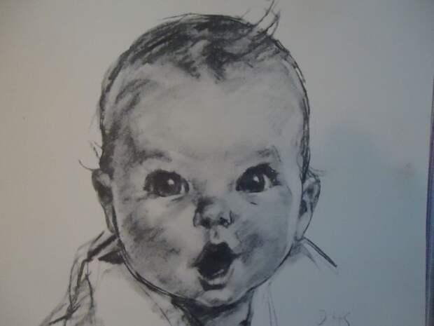 Портрет Энн Тернер Кук, который украшал упаковку детского питания. / Фото: www.ebayimg.com