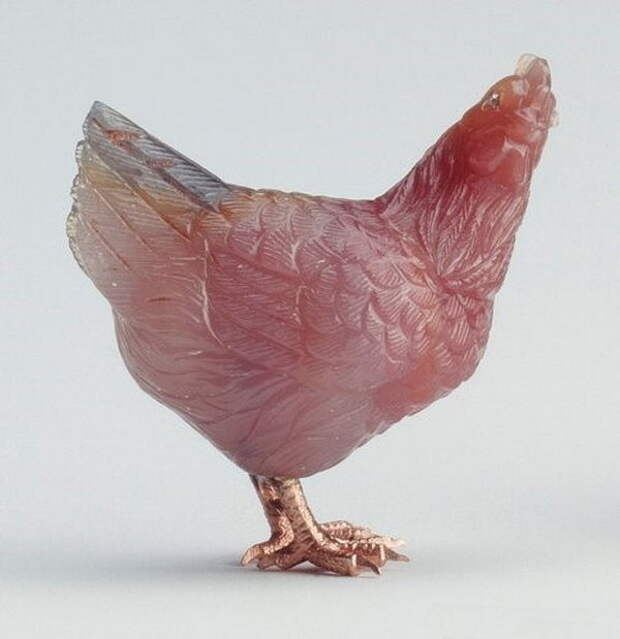Камнерезные фигурки птиц фирмы Фаберже из королевской коллекции, фото № 22
