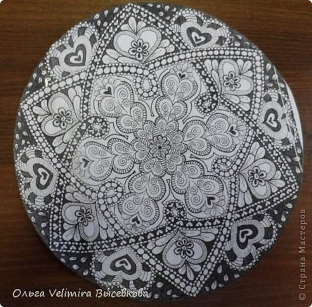 Декор предметов Роспись Тарелка Сердце Востока МК для начинающих Краска Стекло фото 1