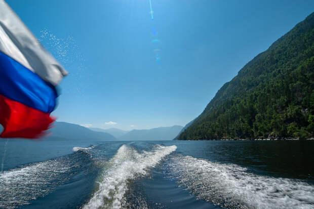 На Телецком озере!