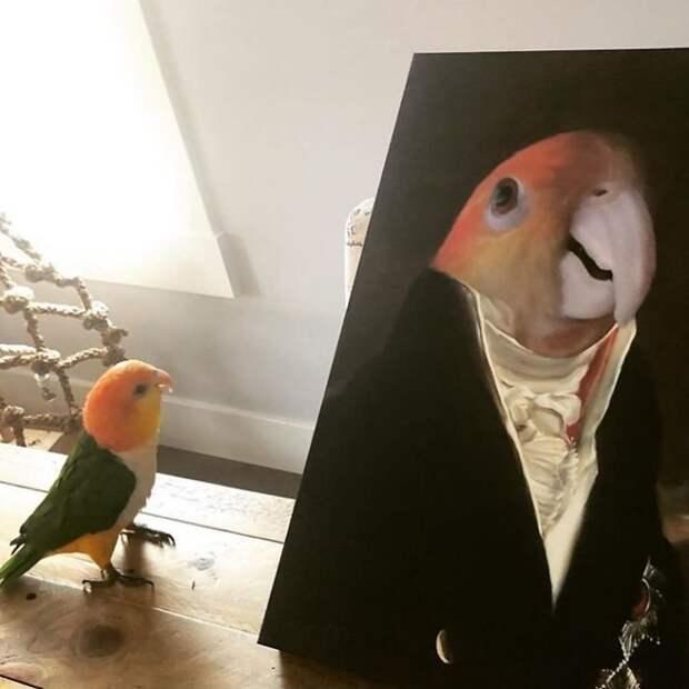 30 домашних питомцев рядом со своими портретами в стиле минувших эпох