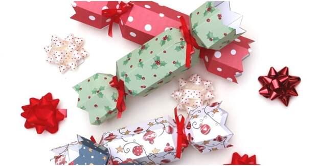 Необычные подарочные коробочки и новогодние украшения из бумаги