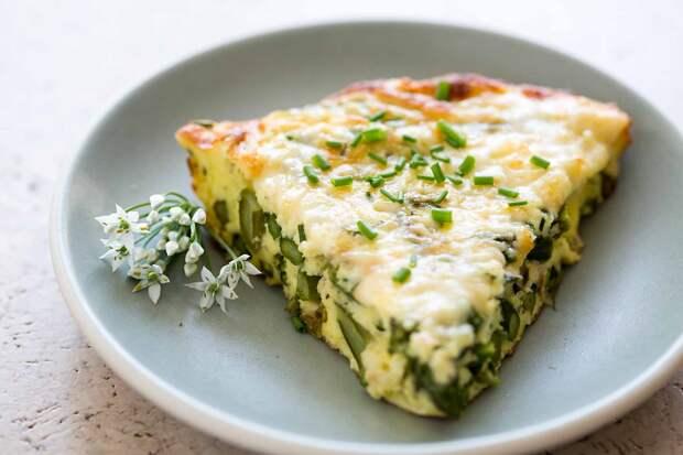 Несладкая запеканка … с перцем, шпинатом и фетой