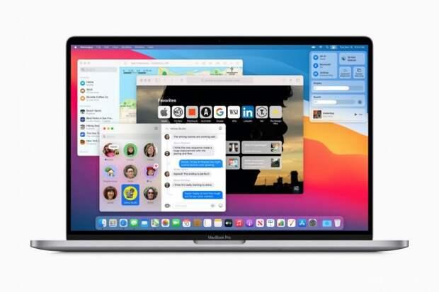 Apple macOS Big Sur - операционная система для Mac и MacBook в дизайне близком к iOS