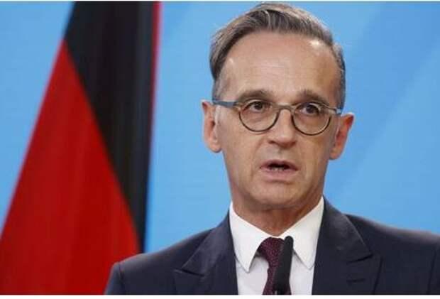 Министр иностранных дел Германии Хайко Маас на пресс-конференции в Берлине, Германия, 14 сентября 2020 года. Odd Andersen/Pool via REUTERS
