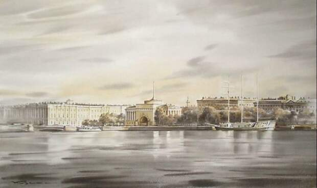 художник Константин Кузема акварель картины - 26