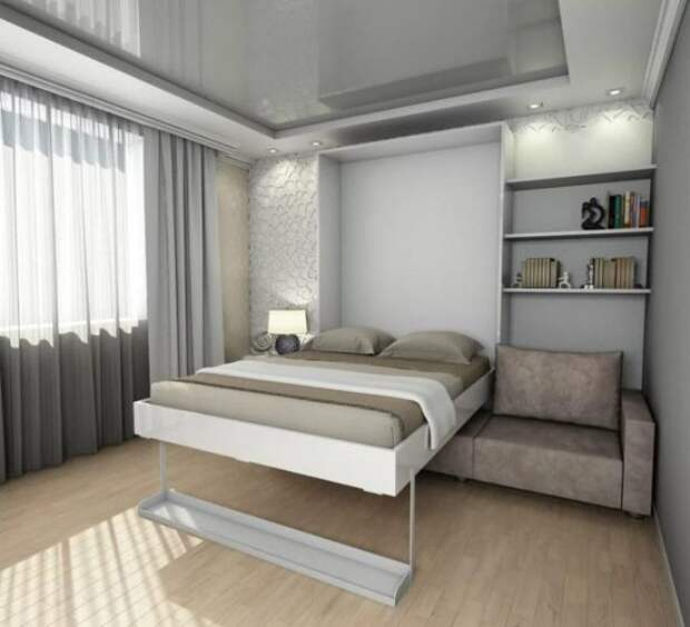Встроенная кровать: особенности, виды, способы установки (58 фото)
