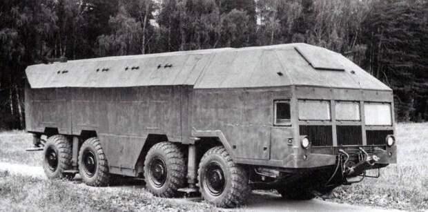 Советский мобильный бункер на колесах, умеющий самостоятельно выбраться из-под земли