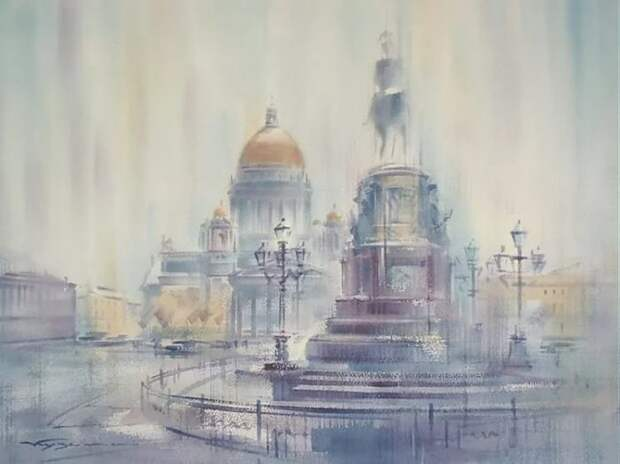 художник Константин Кузема акварель картины - 06