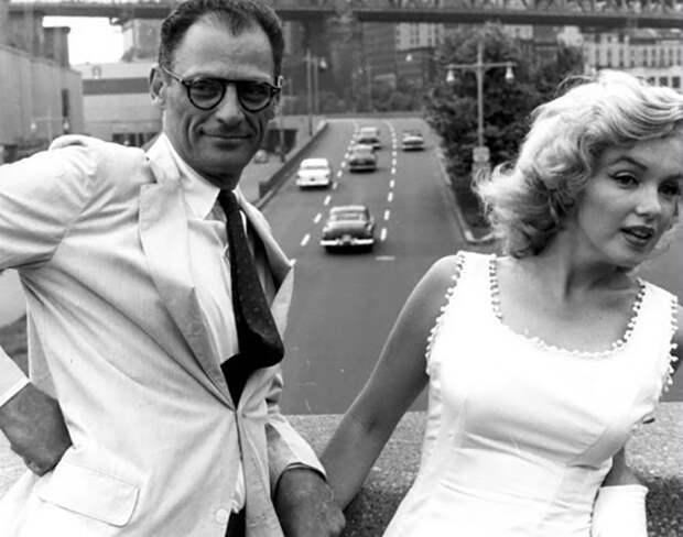 Мэрилин со своим мужем Артуром Миллером.