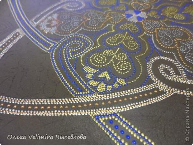 Декор предметов Роспись Тарелка Сердце Востока МК для начинающих Краска Стекло фото 11