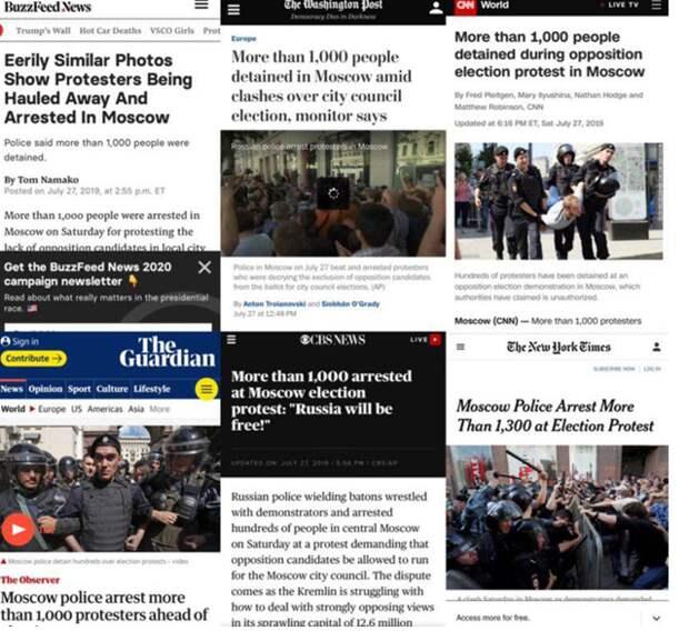 Абсурдная реакция Запада на московский митинг