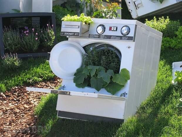 13. Сад-огород в целом корпусе Фабрика идей, лайфхаки для дома и сада, переделки, своими руками, стиральная машина