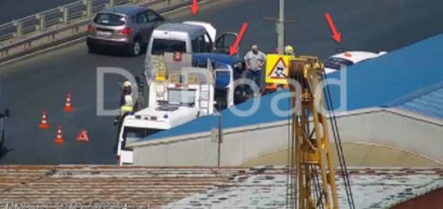 Из-за аварии на  Хорошевской эстакаде затруднено движение на ТТК